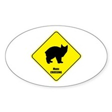 Manx Crossing Oval Decal