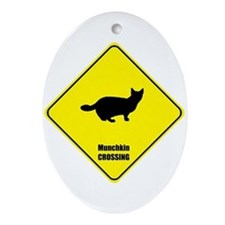 Munchkin Crossing Oval Ornament