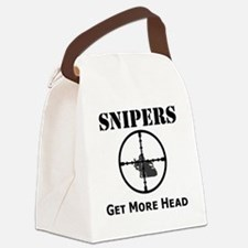 Art_snipers_get more head1 Canvas Lunch Bag