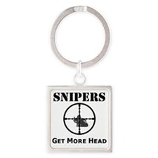 Art_snipers_get more head1 Square Keychain
