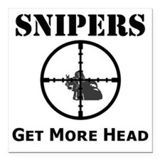 "Art_snipers_get more hea Square Car Magnet 3"" x 3"""