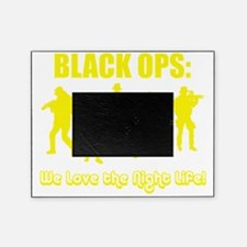 Art_Black Ops Night Life yellow1 Picture Frame