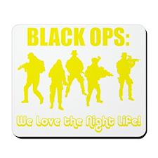 Art_Black Ops Night Life yellow1 Mousepad