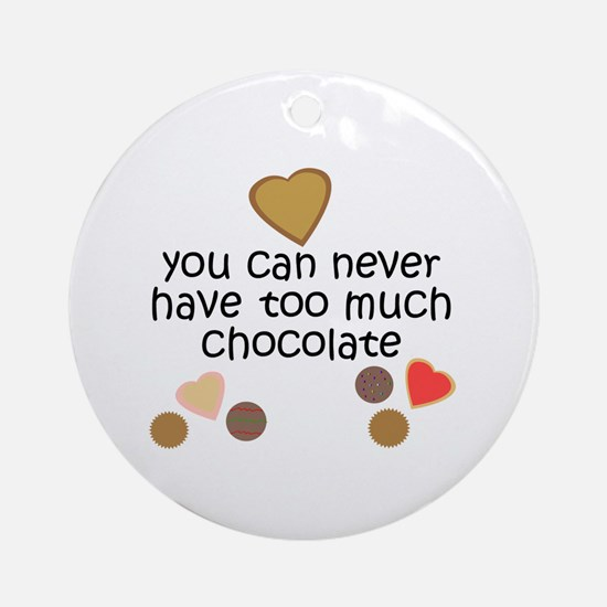 Chocolate Lover Ornament (Round)