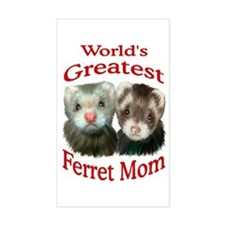 World's Greatest Ferret Mom Rectangle Decal