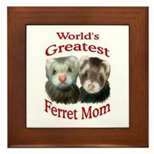 World's Greatest Ferret Mom Framed Tile