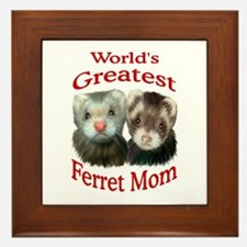 World's Greatest Ferret Mom Framed Tile