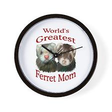 World's Greatest Ferret Mom Wall Clock
