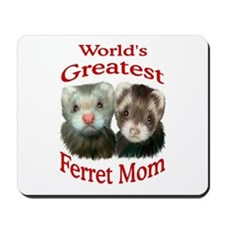 World's Greatest Ferret Mom Mousepad