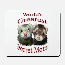 World's Greatest Ferret Mom Mousepad