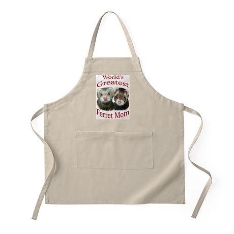World's Greatest Ferret Mom BBQ Apron