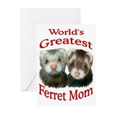World's Greatest Ferret Mom Greeting Cards (Packag