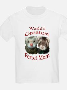 World's Greatest Ferret Mom Kids T-Shirt