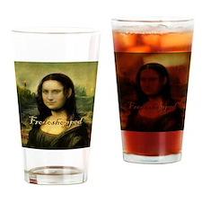 Mona_Lisa  full length Frodoshopped Drinking Glass