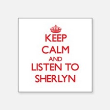 Keep Calm and listen to Sherlyn Sticker