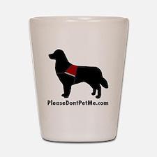 The Please Dont Pet Me Dog Shot Glass