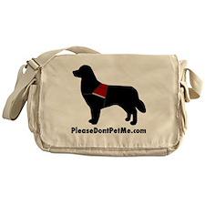 The Please Dont Pet Me Dog Messenger Bag