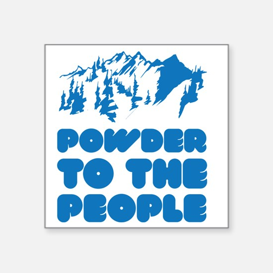"snowboPowder3 Square Sticker 3"" x 3"""