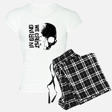 IN-GRIND-WE-CRUST-3-B-on-W Pajamas