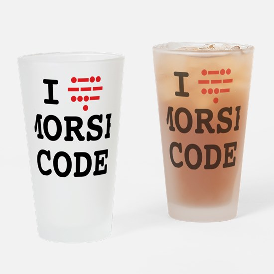 ILoveMorseOL Drinking Glass