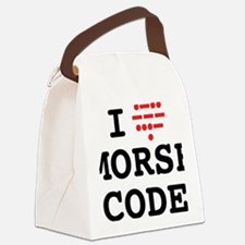 ILoveMorseOL Canvas Lunch Bag