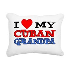 I Love My Cuban Grandpa Rectangular Canvas Pillow