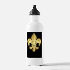 FleurWDgoldBsBc Water Bottle