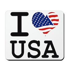 I LOVE USA - FLAG Mousepad