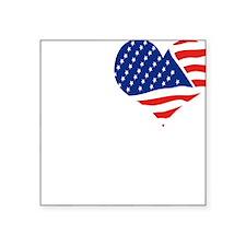 "I LOVE USA - FLAG Square Sticker 3"" x 3"""