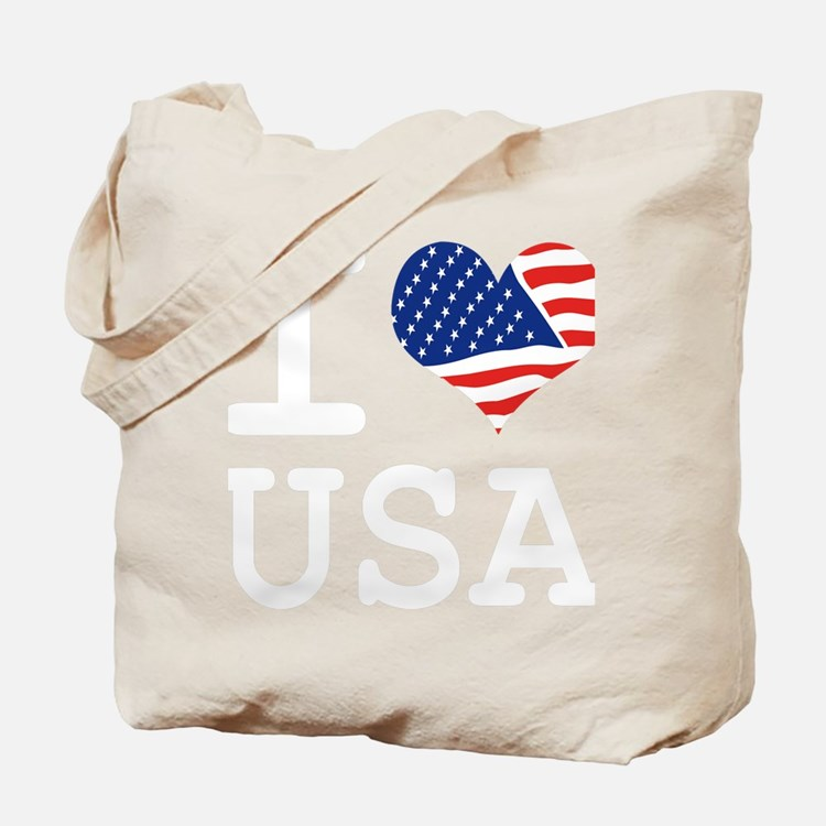 I LOVE USA - FLAG Tote Bag