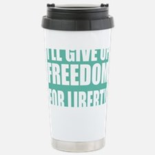 freedom impact blue darker Travel Mug