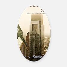 PhiladelphiaStoryCover Oval Car Magnet