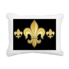 FleurWDgoldBkmp Rectangular Canvas Pillow