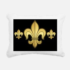 FleurWDgoldBkmp Rectangular Canvas Pillow