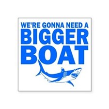 "BiggerBoatJaws Square Sticker 3"" x 3"""