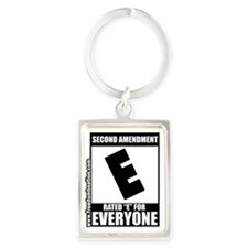 SecondAmendment10x10lrg Portrait Keychain