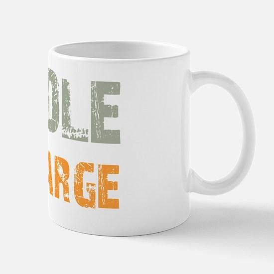 inchargegoldendoodle_black Mug