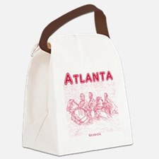 Atlanta_10x10_StoneMountain_Red Canvas Lunch Bag