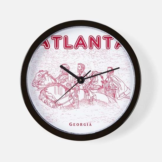 Atlanta_10x10_StoneMountain_Red Wall Clock