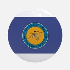 Choctaw Flag Ornament (Round)