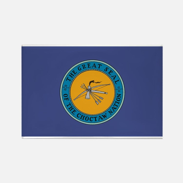 Choctaw Flag Rectangle Magnet