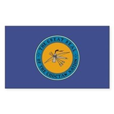Choctaw Flag Rectangle Decal
