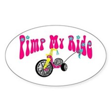Pimp Her Ride Oval Decal
