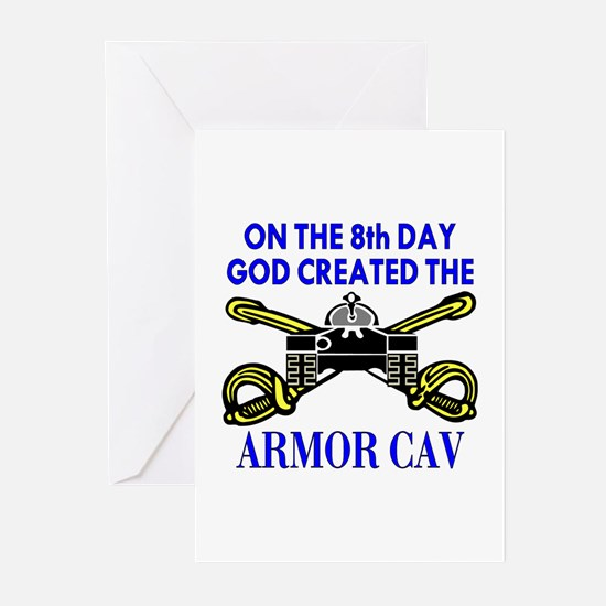 8th Day God Created Armor Cav Greeting Cards (Pack