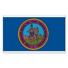Chickasaw Flag Rectangle Decal