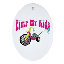 Pimp Her Ride Oval Ornament
