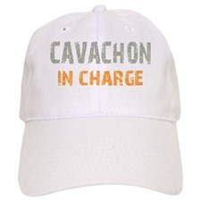 inchargecavachon_black Baseball Cap