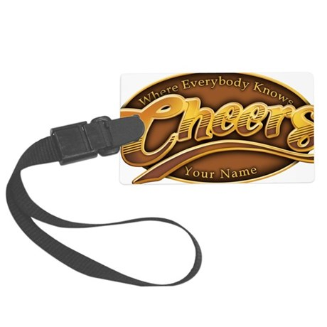 cheers-where-everybody-knows-you Large Luggage Tag