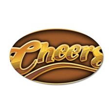 cheers-oval 35x21 Oval Wall Decal
