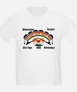 Cheyenne River Sioux Flag Kids T-Shirt
